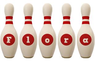 Flora bowling-pin logo