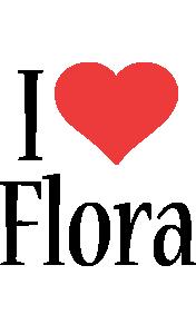 Flora i-love logo