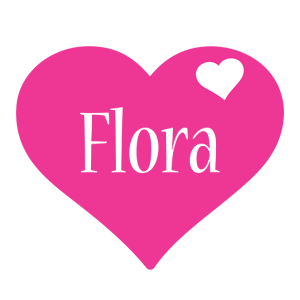 Flora love-heart logo
