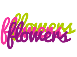 FLOWERS logo effect. Colorful text effects in various flavors. Customize your own text here: https://www.textGiraffe.com/logos/flowers/