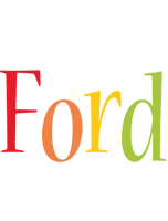 Ford birthday logo