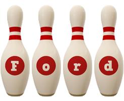 Ford bowling-pin logo