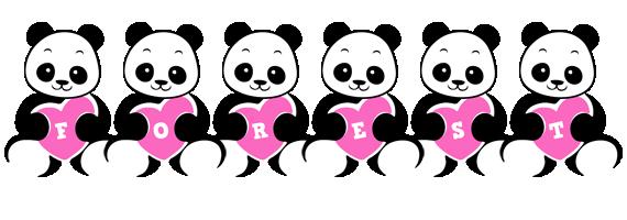 Forest love-panda logo