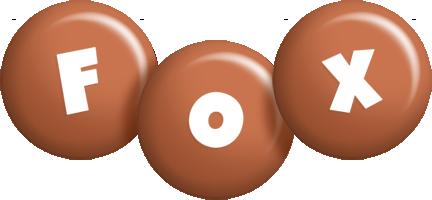 Fox candy-brown logo