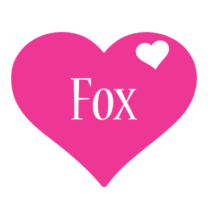 Fox love-heart logo