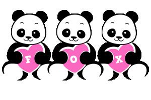 Fox love-panda logo