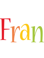 Fran birthday logo