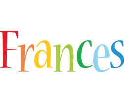 Frances birthday logo