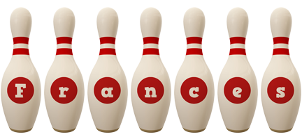 Frances bowling-pin logo