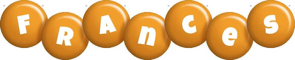 Frances candy-orange logo