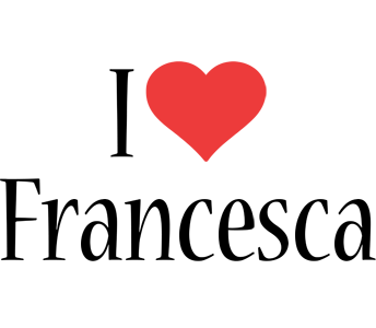 Francesca i-love logo