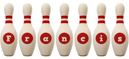 Francis bowling-pin logo
