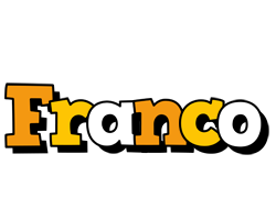 Franco cartoon logo