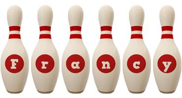 Francy bowling-pin logo