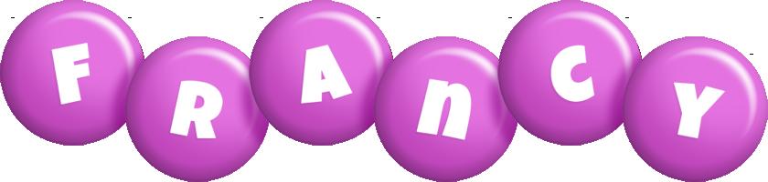 Francy candy-purple logo