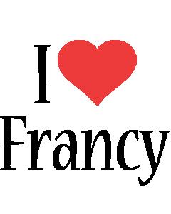 Francy i-love logo