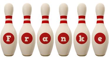 Franke bowling-pin logo