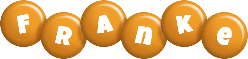 Franke candy-orange logo