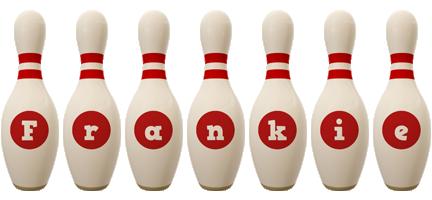 Frankie bowling-pin logo