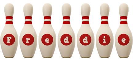 Freddie bowling-pin logo