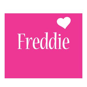 Freddie love-heart logo