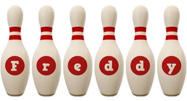 Freddy bowling-pin logo