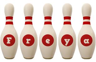 Freya bowling-pin logo