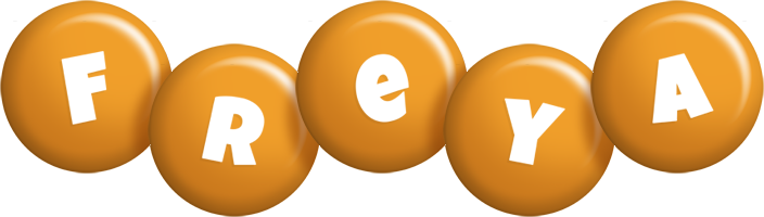 Freya candy-orange logo