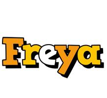 Freya cartoon logo