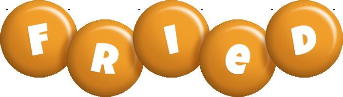 Fried candy-orange logo