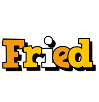 Fried cartoon logo