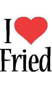 Fried i-love logo