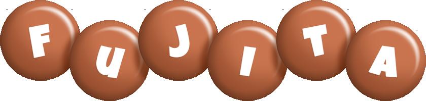 Fujita candy-brown logo
