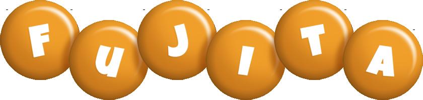 Fujita candy-orange logo