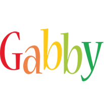 Gabby birthday logo
