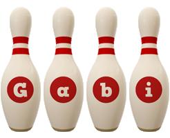 Gabi bowling-pin logo