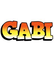 Gabi sunset logo