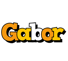 Gabor cartoon logo