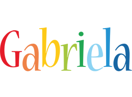 Gabriela birthday logo