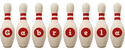 Gabriela bowling-pin logo