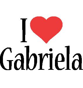 Gabriela i-love logo