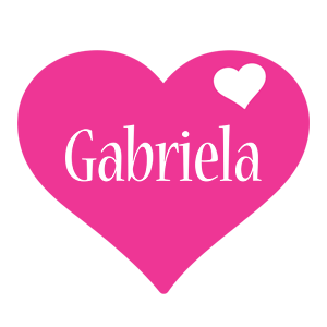 Gabriela love-heart logo