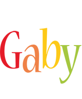 Gaby birthday logo