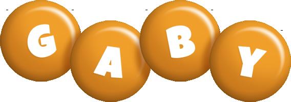 Gaby candy-orange logo