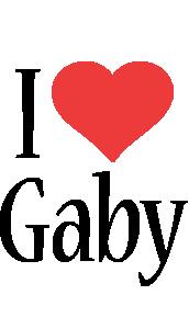 Gaby i-love logo