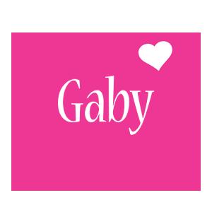 Gaby love-heart logo