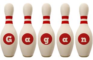 Gagan bowling-pin logo