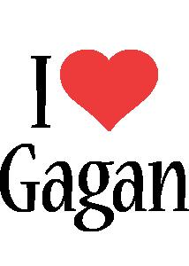Gagan i-love logo