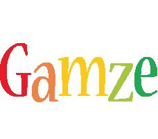 Gamze birthday logo