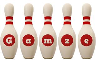 Gamze bowling-pin logo